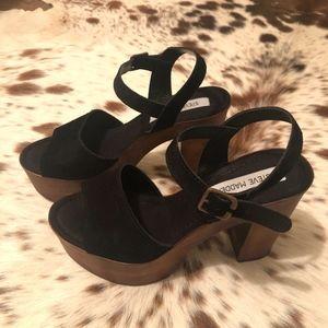 Steve Madden Shoes - Steve Madden Lulla suede/leather platforms - Sz 8